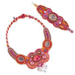 haft koralikowy, - Komplety - Biżuteria