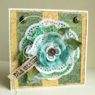 Kartki okolicznościowe kwiat,życzenia,imieniny,urodziny,retro