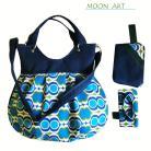 Albumy torba,niebieski,zileony,zamsz,na skos,kosmetyczka