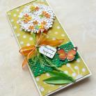 Kartki okolicznościowe kartka,urodziny,imieniny,kwiat,drzewko,motyle