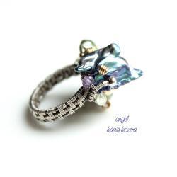 pierścionek,ekstrawagancki,asymetryczny - Pierścionki - Biżuteria
