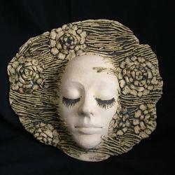 twarz,maska,kobieta ceramika - Ceramika i szkło - Wyposażenie wnętrz