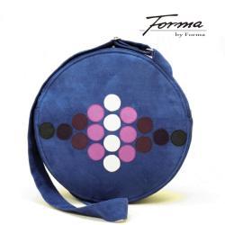 torebka koło,kreatywna,na ramię,z ekozamszu - Na ramię - Torebki