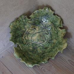 liść,patera,misa,ceramika - Ceramika i szkło - Wyposażenie wnętrz