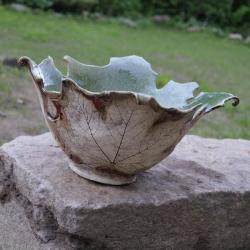 misa,naczynie,liść - Ceramika i szkło - Wyposażenie wnętrz