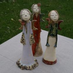 anioł,ceramika - Ilustracje, rysunki, fotografia - Wyposażenie wnętrz