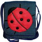 Na ramię torba listonoszka,biedronka,a4,granatowy