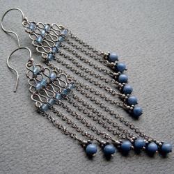 długie,wiszące kolczyki,romantyczne,wyjątkowe - Kolczyki - Biżuteria