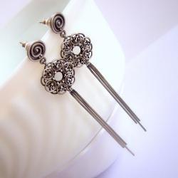 koronkowe,misterne,długie,uwodzicielksie - Kolczyki - Biżuteria