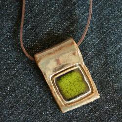 kwadrat,wisior,ceramika - Wisiory - Biżuteria
