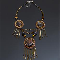haft koralikowy,naszyjnik indiański - Naszyjniki - Biżuteria