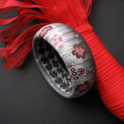 szeroka bransoleta,fiann - Bransoletki - Biżuteria
