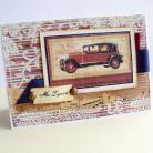 Kartki okolicznościowe samochód,retro,męska,życzenia,urodziny,
