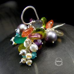 kolczyki grona,nehesi,bogate w minerały - Kolczyki - Biżuteria