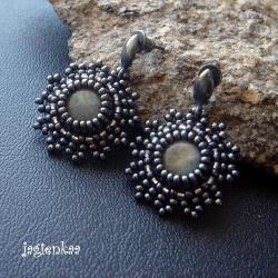 haft koralikowy,elegancki,unikalny - Kolczyki - Biżuteria