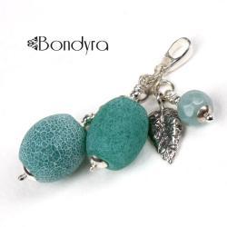 wisior,srebro,agat,zielony - Wisiory - Biżuteria