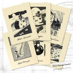 grafika z Albertem,na ścianę,dla niego,podróż - Komplety - Wyposażenie wnętrz
