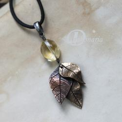 słoneczny,jesień,złoty,natura,liście,drzewo - Wisiory - Biżuteria