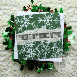święta,śniezynki,eight - Kartki okolicznościowe - Akcesoria