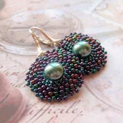 plecione,kolczyki,Extrano,perła,seashell - Kolczyki - Biżuteria