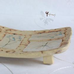 patera,ceramika,prostokąt,natura,rękodzieło,unikat - Ceramika i szkło - Wyposażenie wnętrz