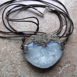 agat,srebro - Naszyjniki - Biżuteria