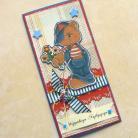 Kartki okolicznościowe kartka,chłopiec,miś,