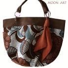 Na ramię torba,na ramię,kwiaty,bawełna,brązowy,zamsz