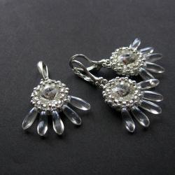 Extrano,plecione,komplet,Swarovski - Komplety - Biżuteria
