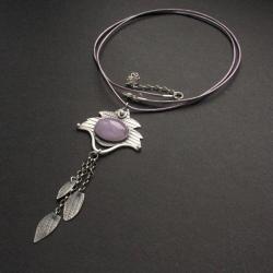 fiann,z ametystem,biżuteria handmade - Wisiory - Biżuteria