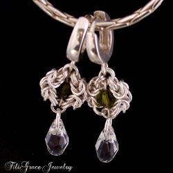 Lekkie,deliaktne,koronkowe,romantyczne,chainmaille - Kolczyki - Biżuteria