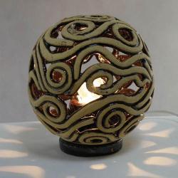 lampa ceramiczna,światło,szamot,dekoracja, - Ceramika i szkło - Wyposażenie wnętrz