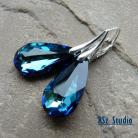 Kolczyki kolczyki,kryształy Swarovski,Bermuda Blue