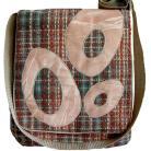 Na ramię torba listonoszka,oryginalna,aplikacja,łososiowa
