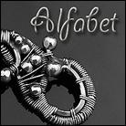 Srebrny alfabet - inicjały do zawieszenia