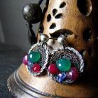 Kolczyki srebro,krwist,kobiece,romantyczne,elegancki,krótki