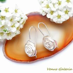 srebro,kolczyki,różyczki - Kolczyki - Biżuteria