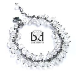 krystaliczna bransoletka swarovski - oksydowana - Bransoletki - Biżuteria