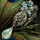 Naszyjniki fluoryt,srebro,medalion,naszyjnik,wire-wrapping