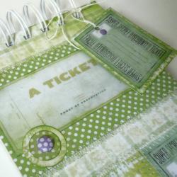 zielony notes,patchwork - Notesy - Akcesoria