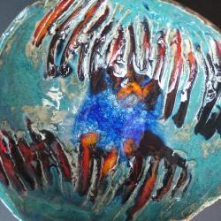 piękna misa ceramiczna,unikatowa, - Ceramika i szkło - Wyposażenie wnętrz