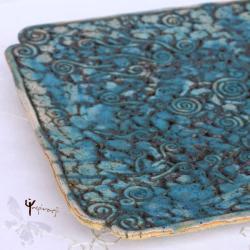 patera,ceramika,turkus,unikat,prezent - Ceramika i szkło - Wyposażenie wnętrz