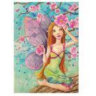 Ilustracje, rysunki, fotografia ilustracja,akwarela,wydruk,elf,kwiaty