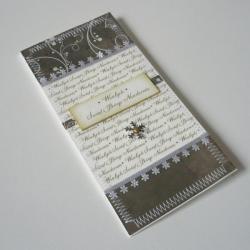 kartka,Boże Narodzenie,śnieżynka,zielona - Kartki okolicznościowe - Akcesoria