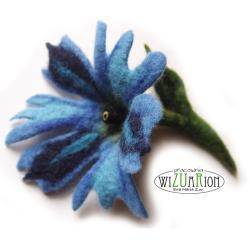 filcowy,kwiat,ekstrawagancki,filcowany,roślinny - Broszki - Biżuteria