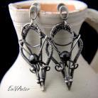 Kolczyki biżuteria artystyczna,kolczyki,wire-wrapping