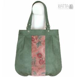 alkatara,zielo torba,ekozamsz,do pracy,na uczelnię - Na ramię - Torebki
