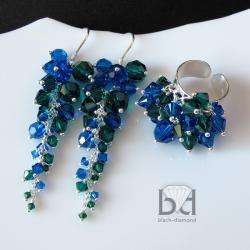 efektowny komplet z kryształami Swarovski - Komplety - Biżuteria