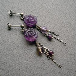 romantyczne,kwiatowe,delikatne,wiszące kolczyki - Kolczyki - Biżuteria