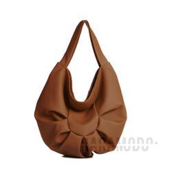torebka,skóra ekologiczna,brązowa,pojemna - Na ramię - Torebki